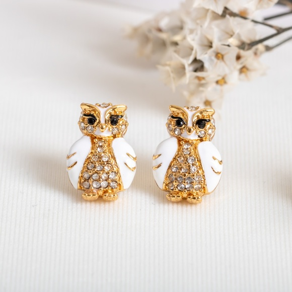 kate spade Jewelry - Kate Spade Adorable Star Bright Owl Earrings